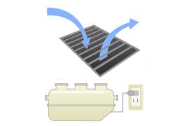 浄化槽の電源は切らない・通気装置はふさがない
